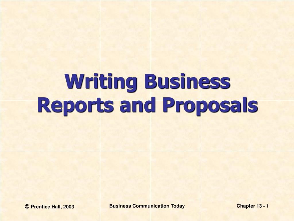 Business Report Proposal