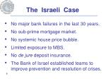 the israeli case