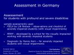 assessment in germany15