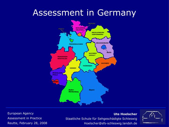 Assessment in germany2