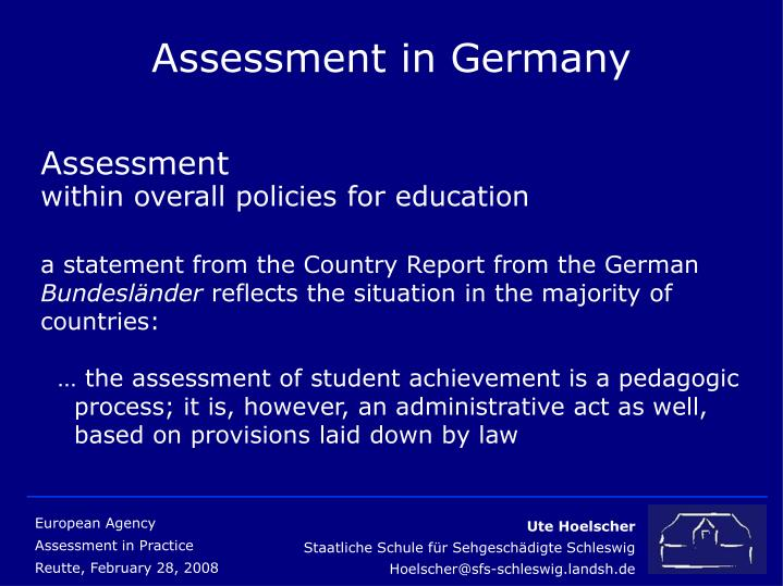 Assessment in germany3
