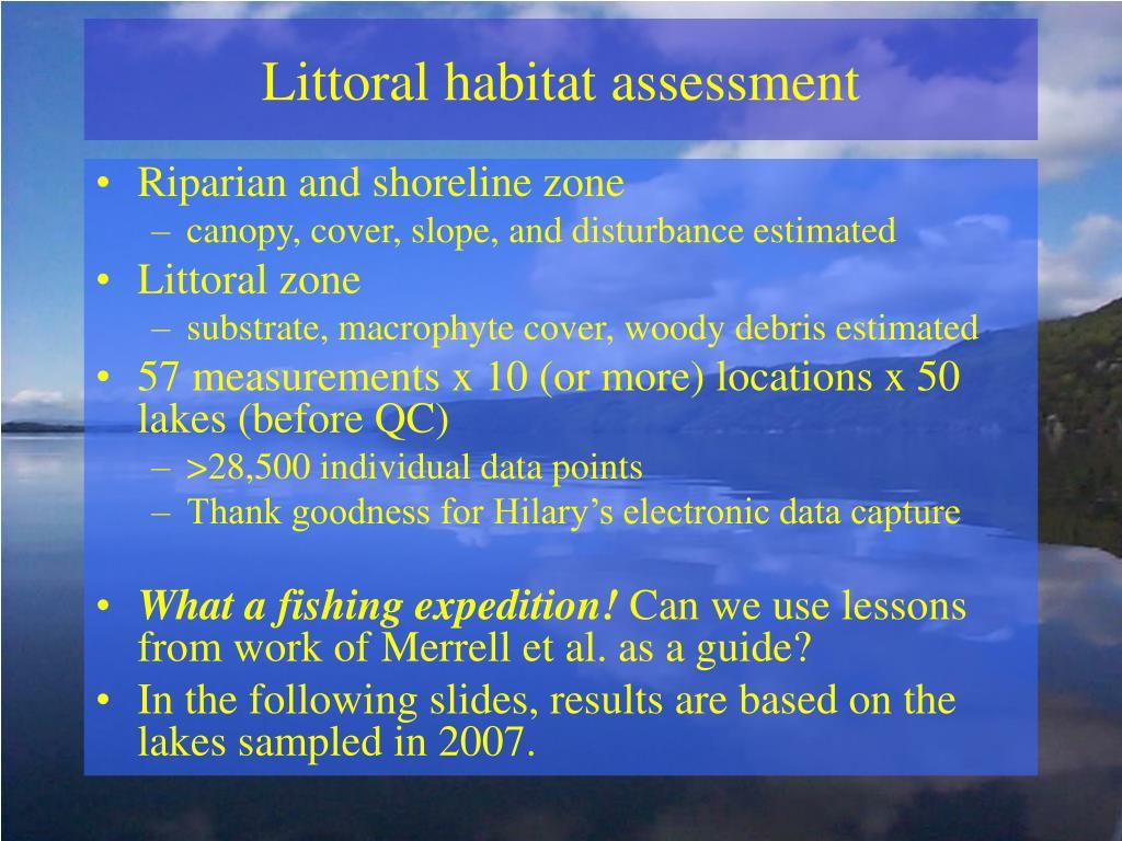 Littoral habitat assessment