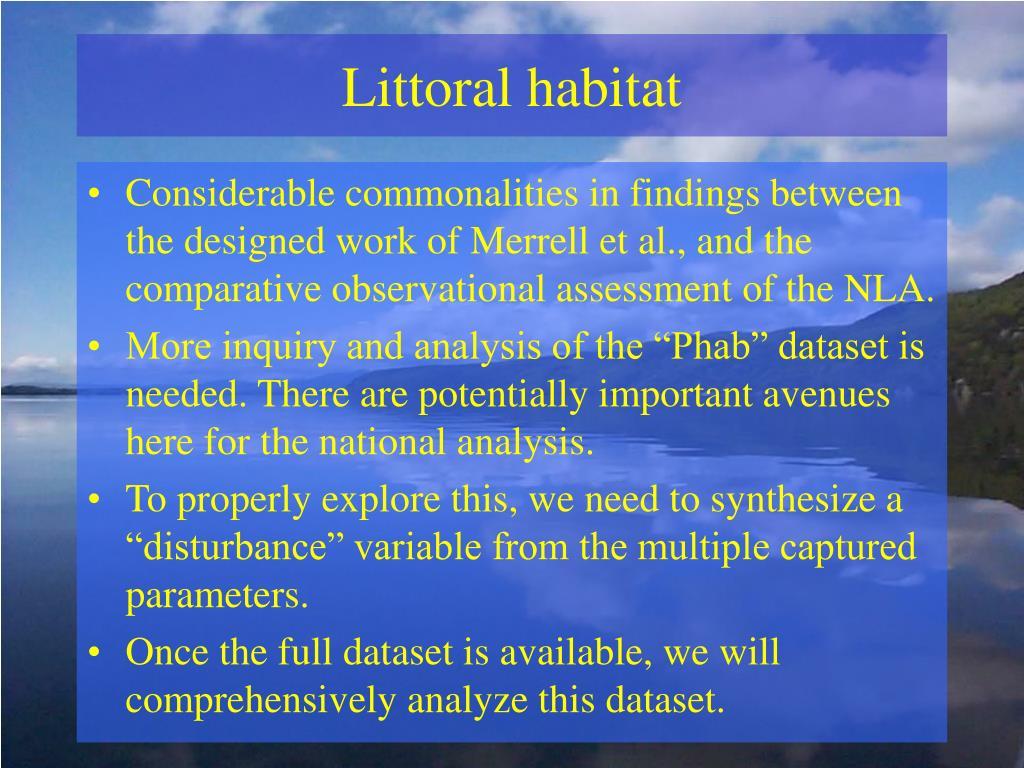 Littoral habitat