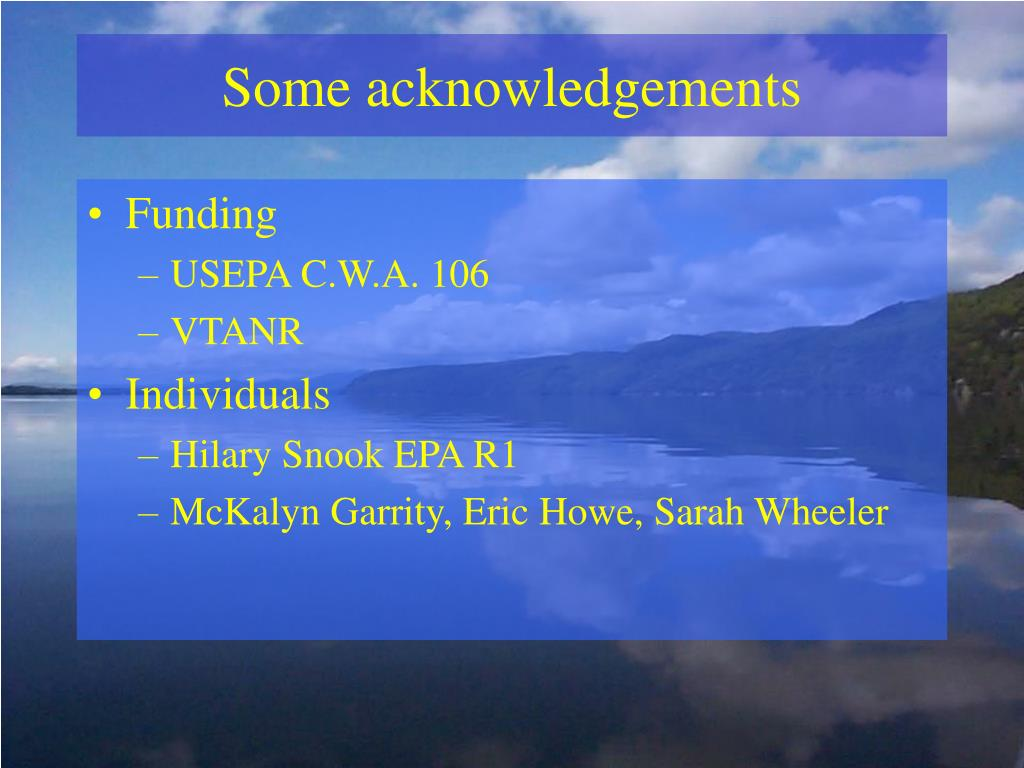 Some acknowledgements