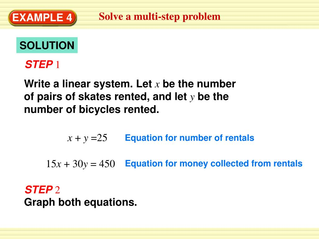 Solve a multi-step problem