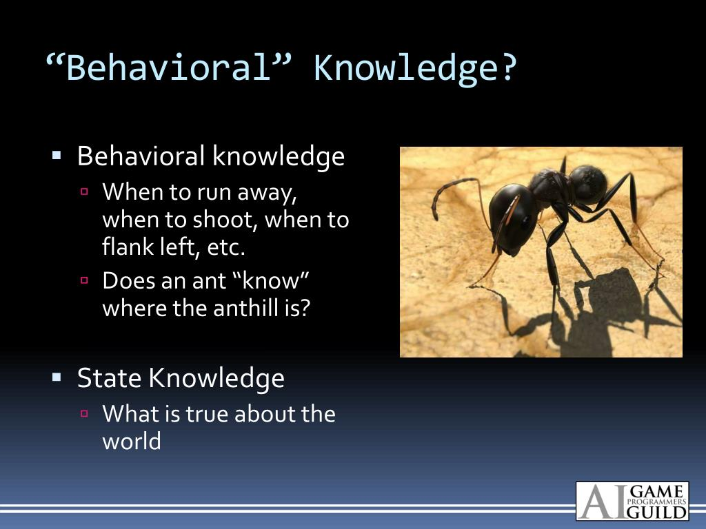 """Behavioral"" Knowledge?"