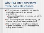 why pki isn t pervasive three possible causes