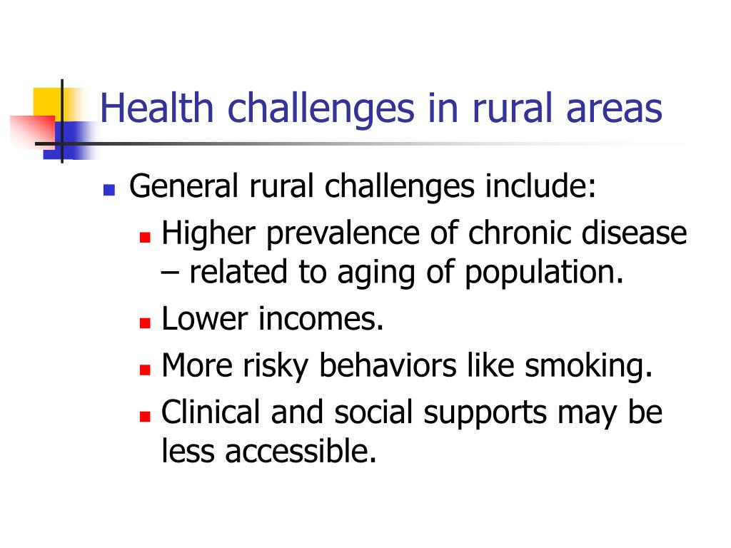 Health challenges in rural areas