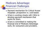 medicare advantage financial challenges