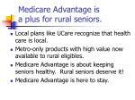medicare advantage is a plus for rural seniors