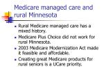 medicare managed care and rural minnesota