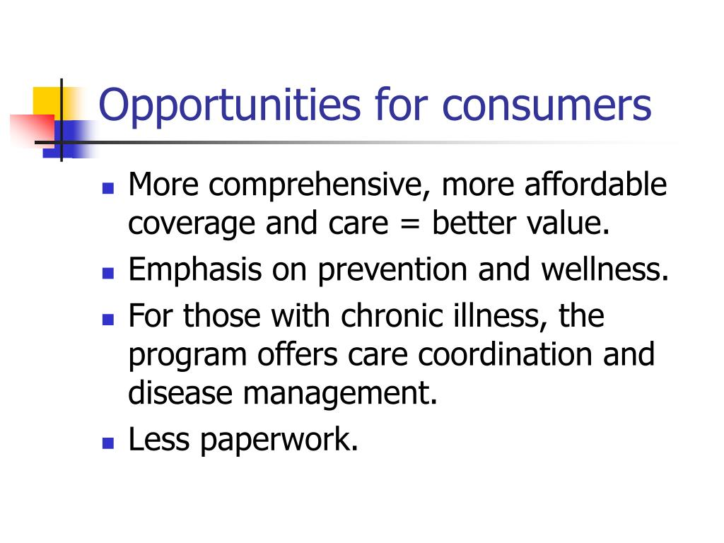 Opportunities for consumers