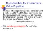 opportunities for consumers value equation
