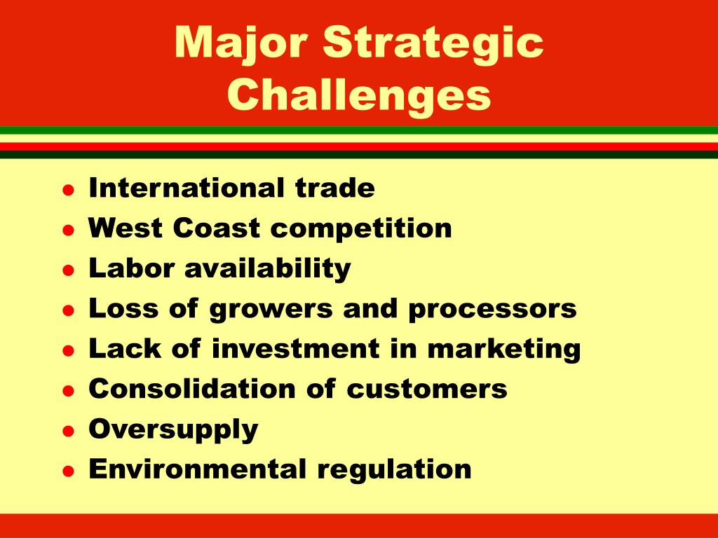Major Strategic Challenges