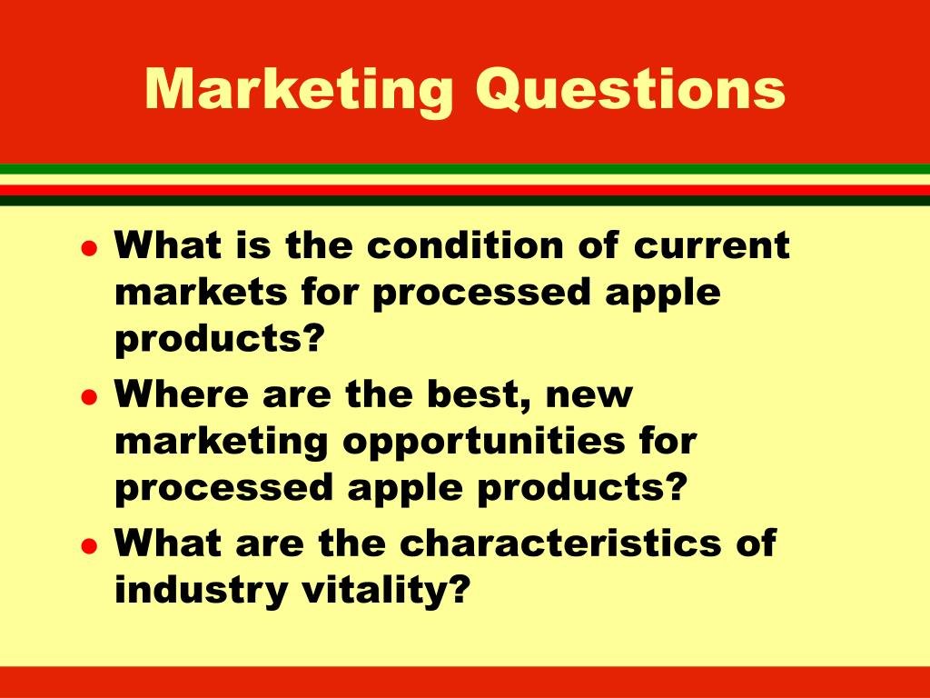 Marketing Questions
