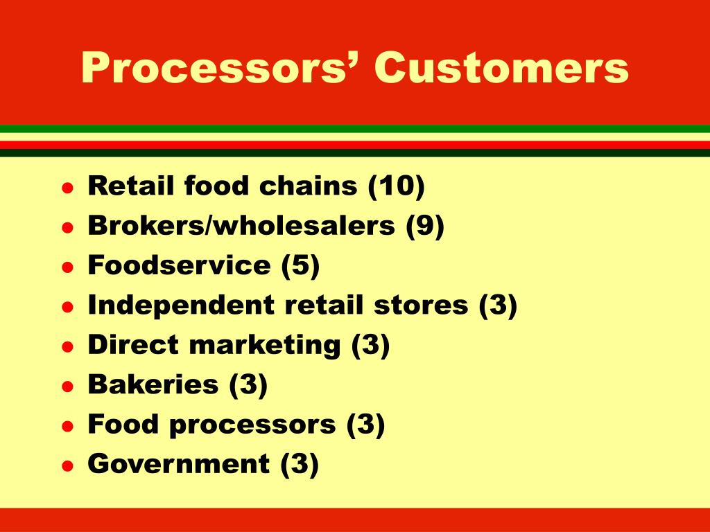 Processors' Customers