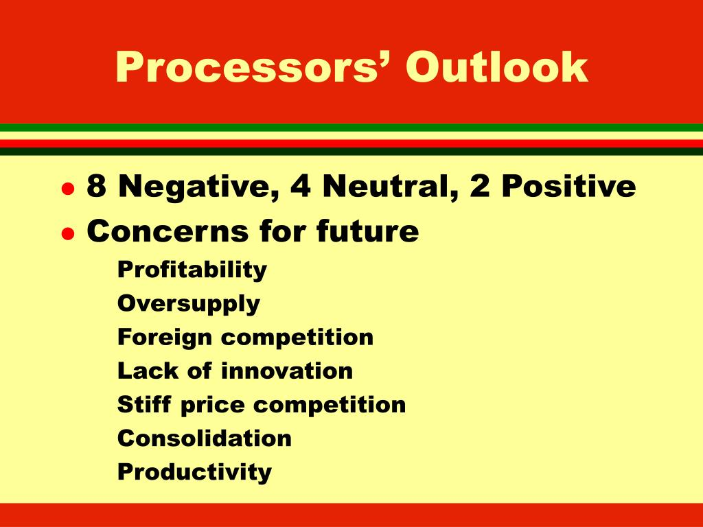 Processors' Outlook
