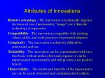 attributes of innovations