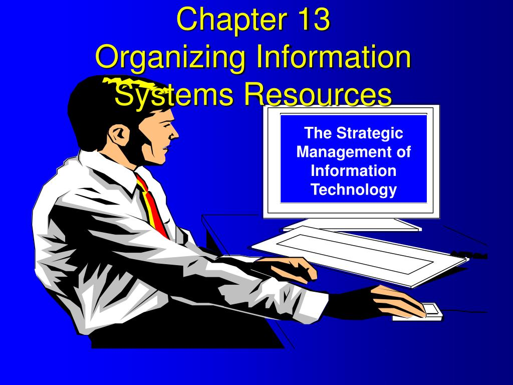 chapter 13 organizing information systems resources