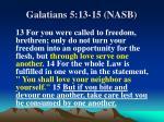 galatians 5 13 15 nasb