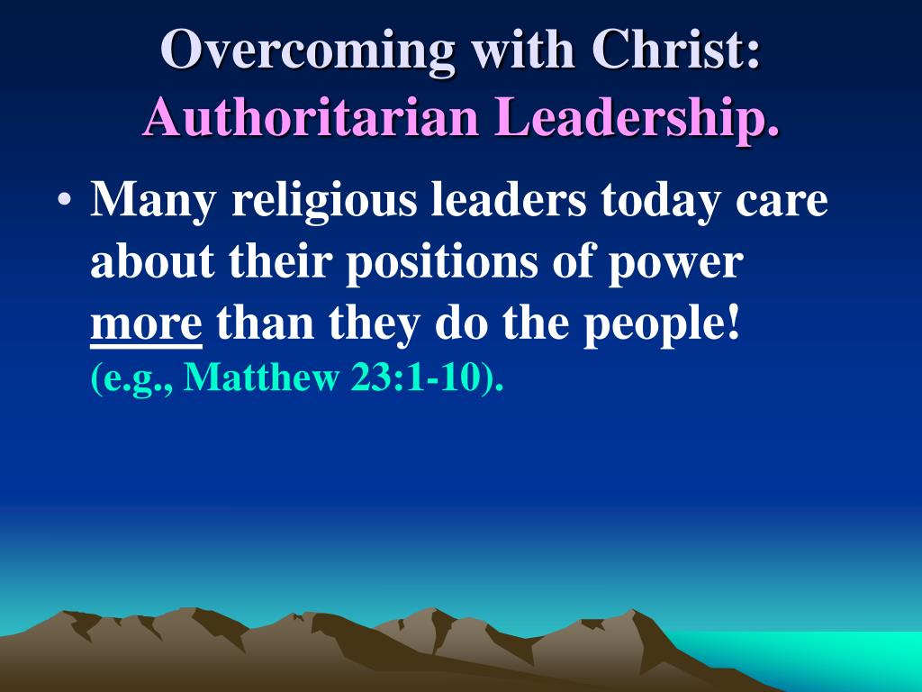 Overcoming with Christ: