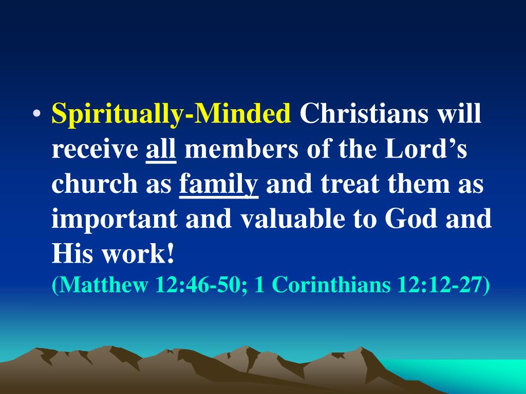 Spiritually-Minded