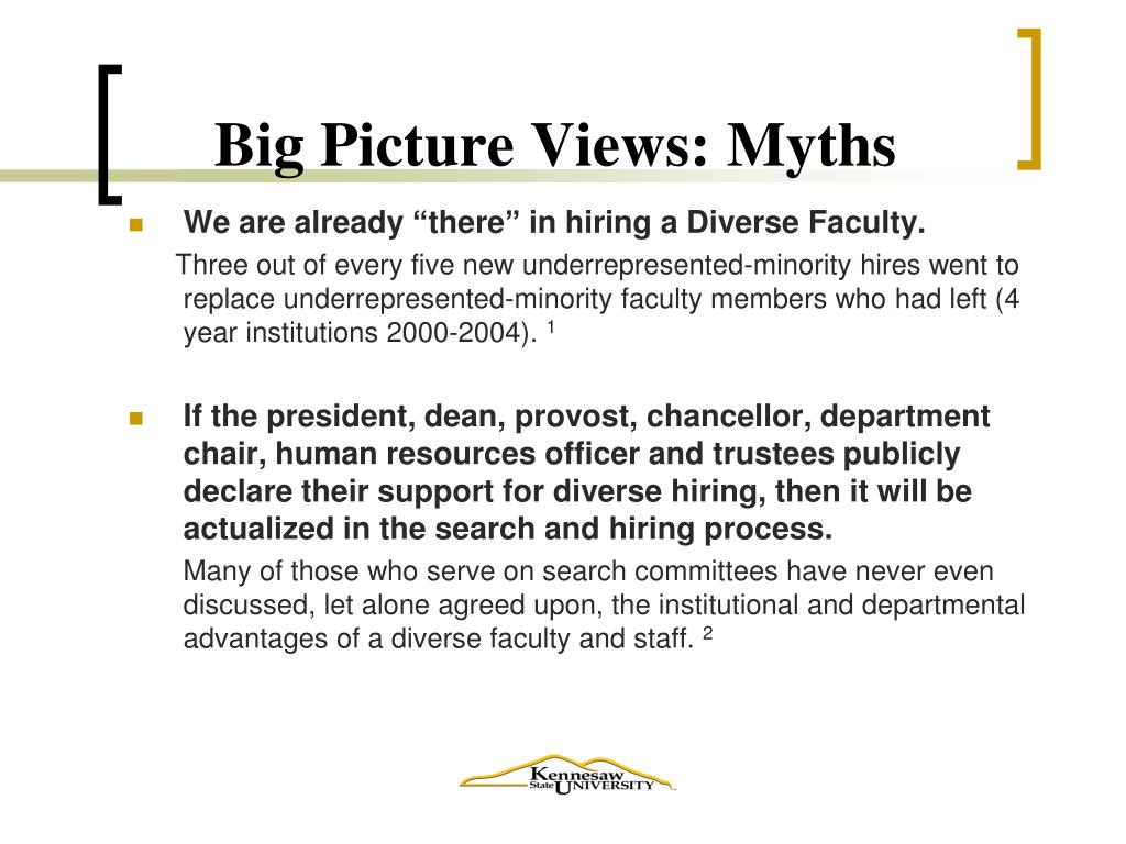 Big Picture Views: Myths