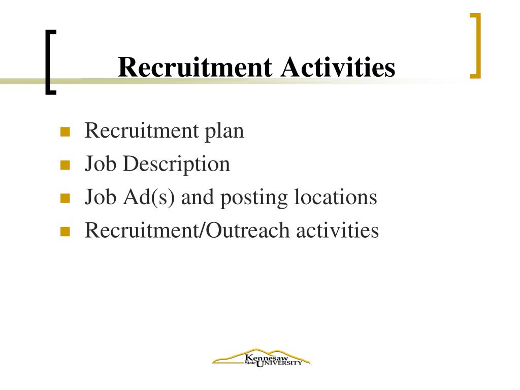 Recruitment Activities
