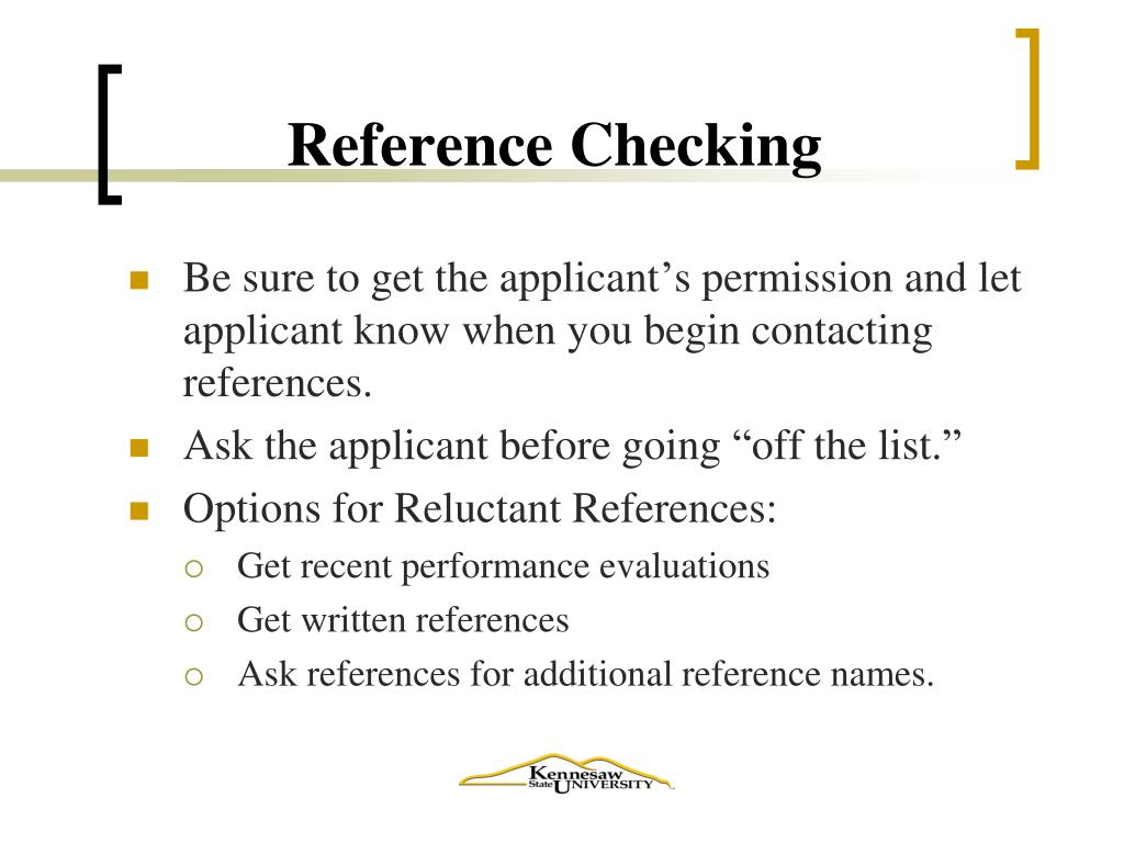 Reference Checking