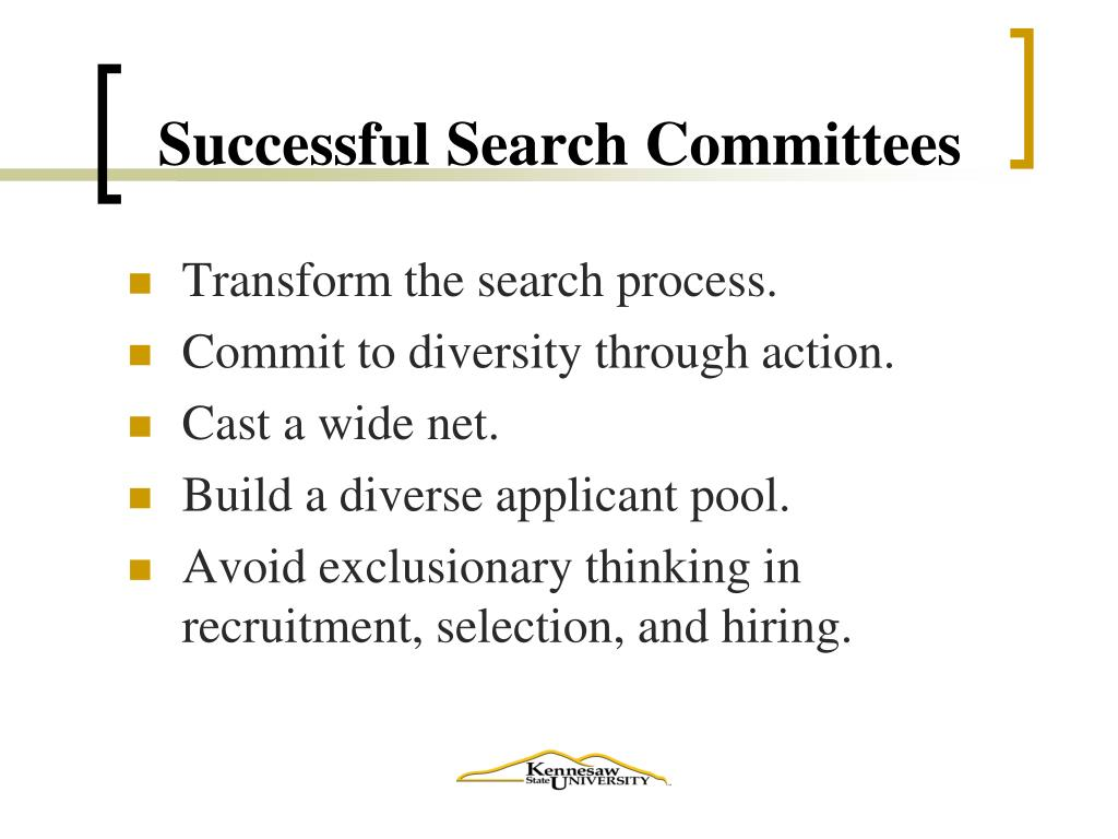 Successful Search Committees