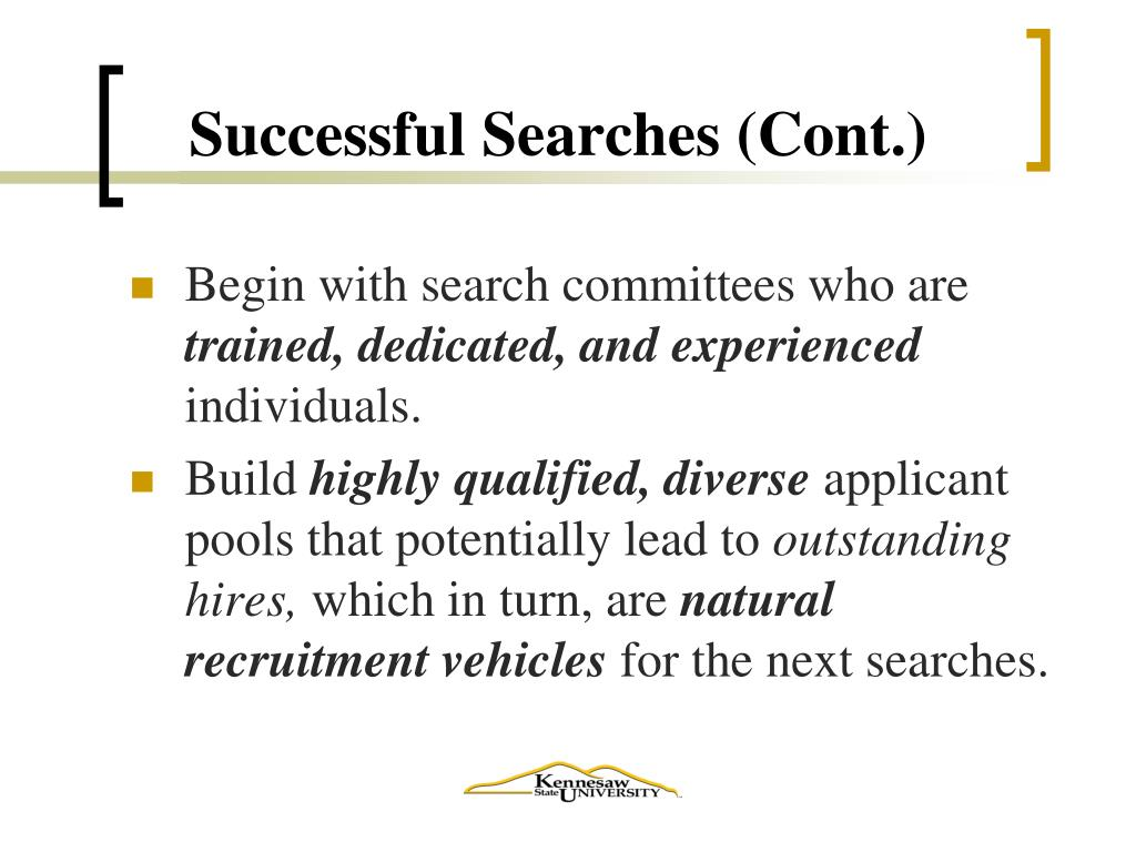 Successful Searches (Cont.)