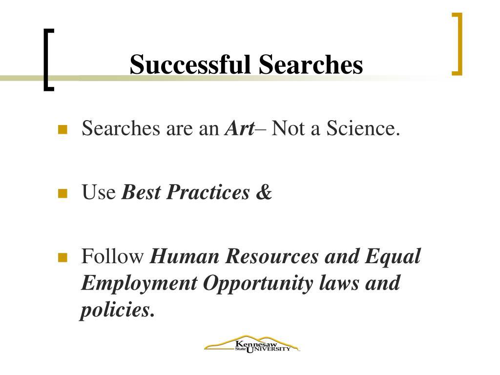 Successful Searches