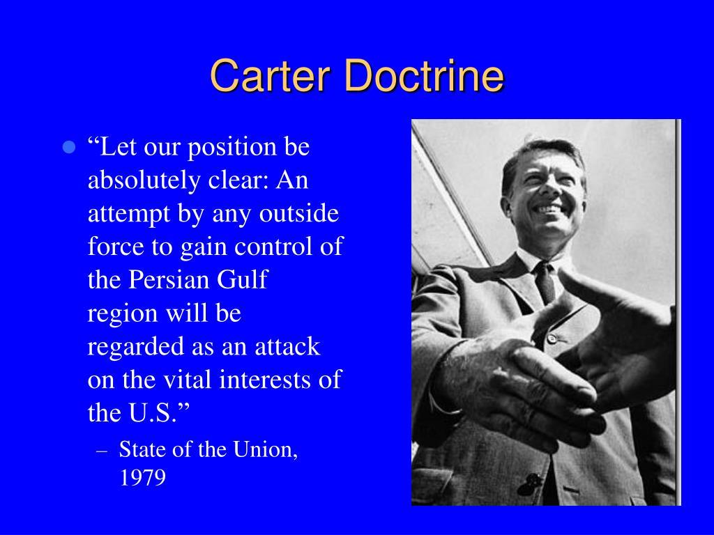 Carter Doctrine
