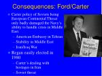 consequences ford carter