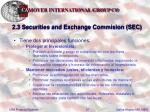 2 3 securities and exchange commision sec27