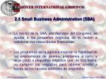 2 5 small business administration sba