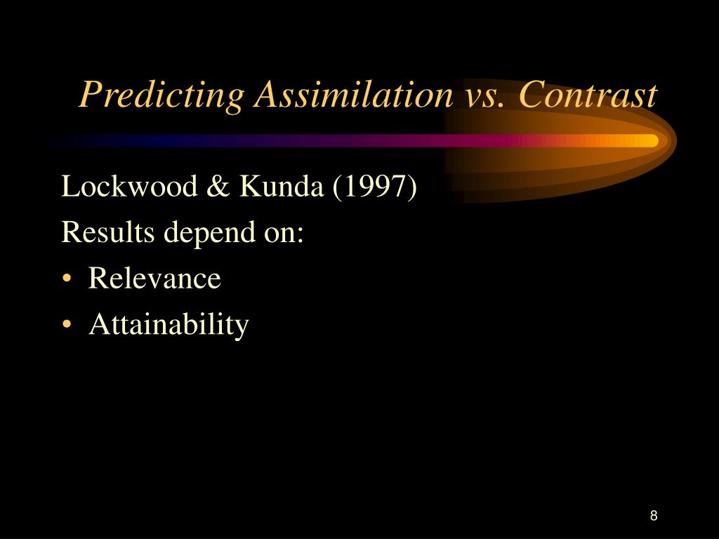 Predicting Assimilation vs. Contrast