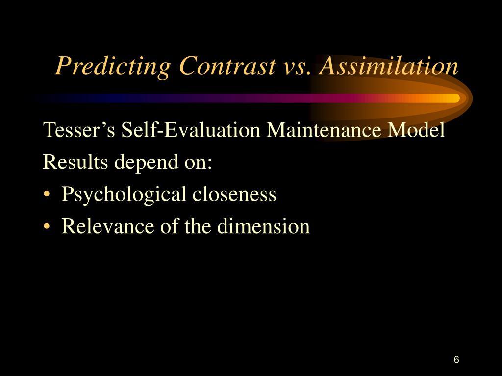 Predicting Contrast vs. Assimilation