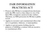 fair information practices act