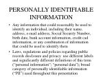 personally identifiable information