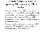 require agencies prior to posting pr containing pii on web to