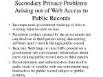 secondary privacy problems arising out of web access to public records