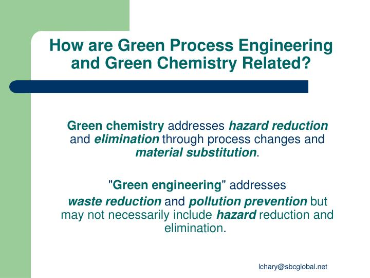 How are Green Process Engineering