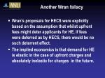 another wran fallacy