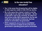 is the new model free education