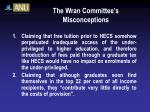 the wran committee s misconceptions