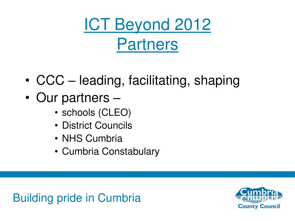 ICT Beyond 2012
