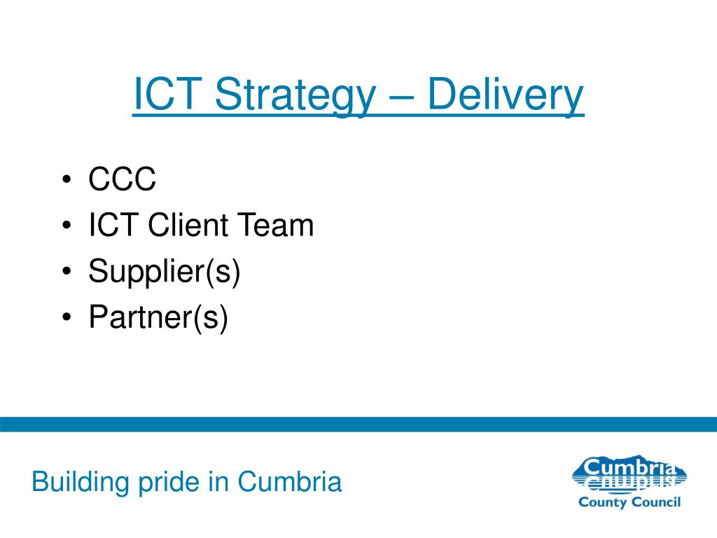 ICT Strategy – Delivery