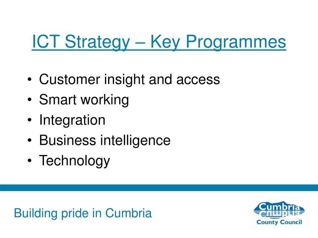 ICT Strategy – Key Programmes