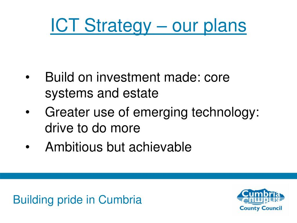 ICT Strategy – our plans